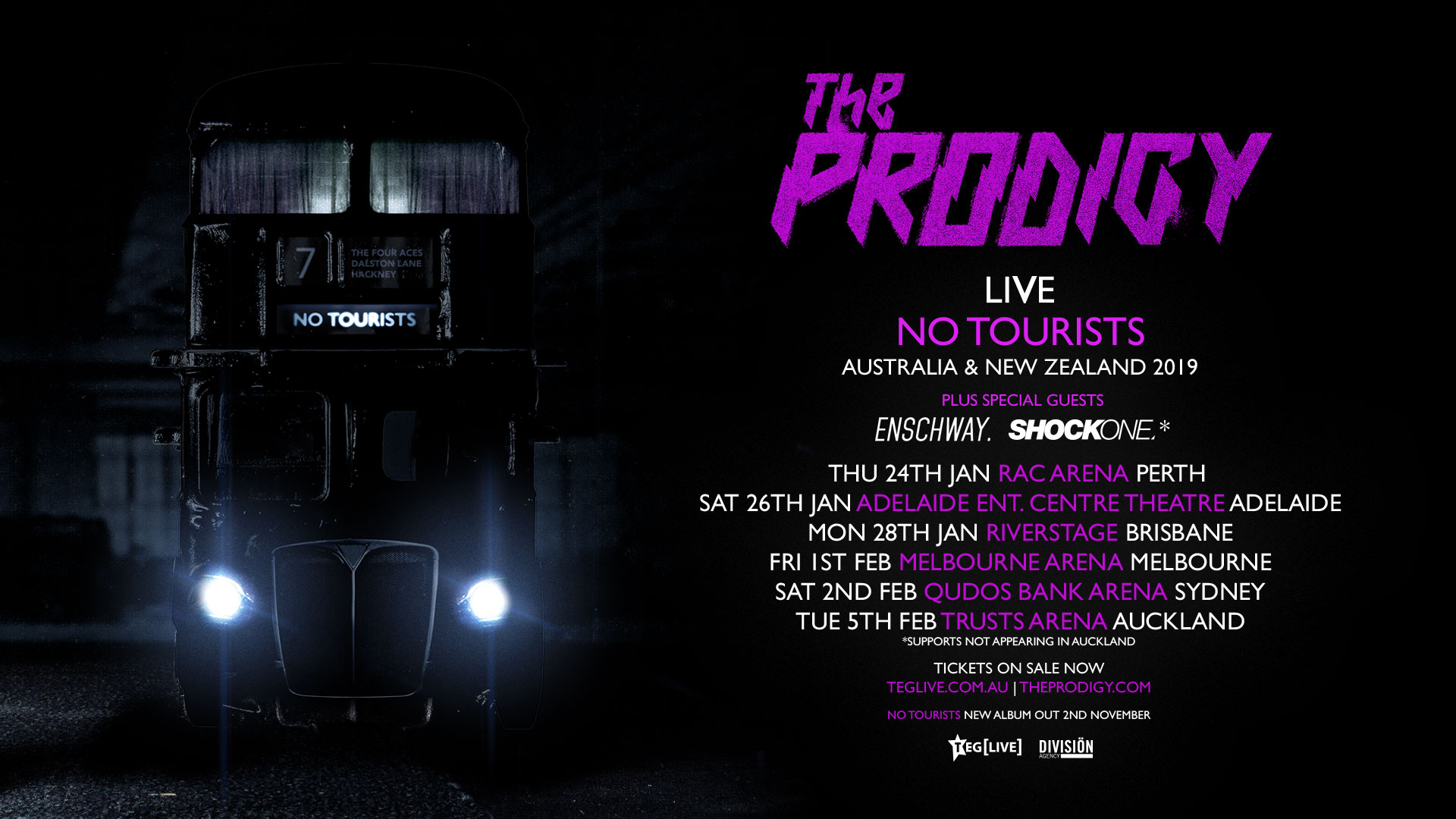 THE PRODIGY RETURN TO AUSTRALIA & NZ IN 2019 FOR THEIR 'NO TOURISTS